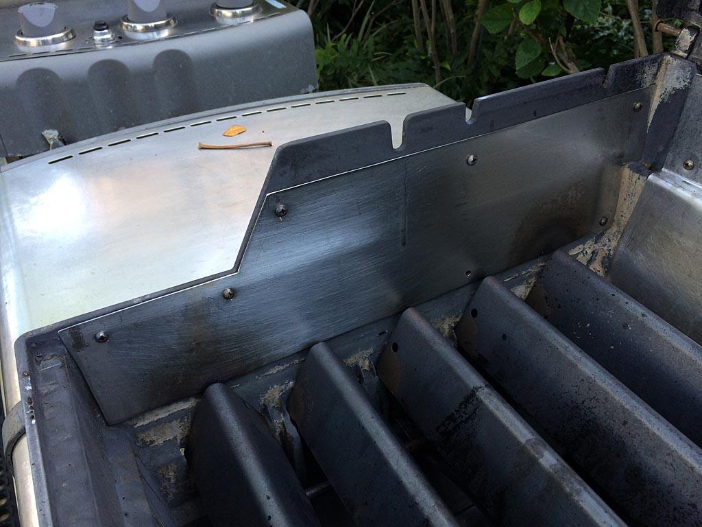 Fire box repair with SS sheet metal