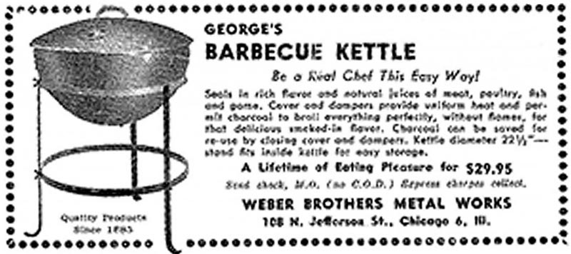 Weber's first ad