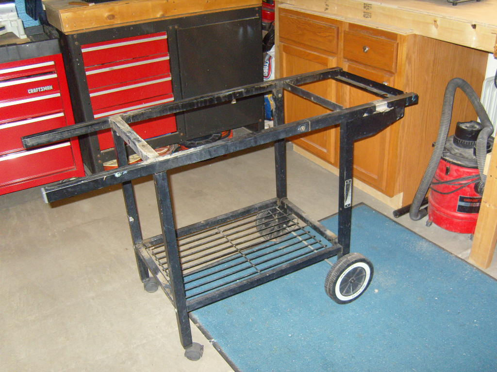 reusing a weber frame as a grill cart the virtual weber gas grill. Black Bedroom Furniture Sets. Home Design Ideas