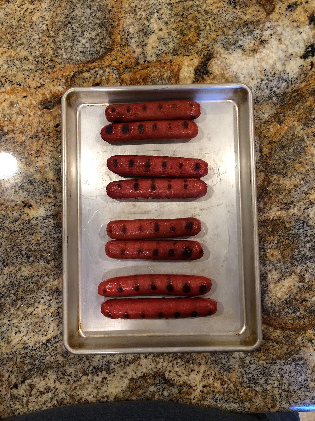 Hot dogs ready for judging