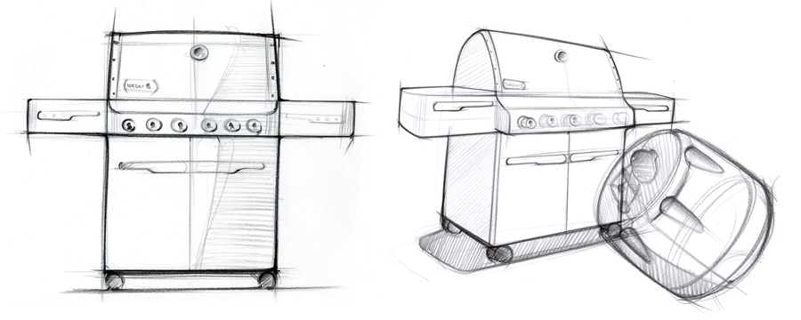 Weber Summit gas grill sketch by CHOi Design
