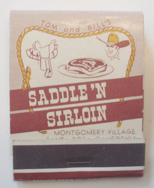 Saddle 'N Sirloin matchbook
