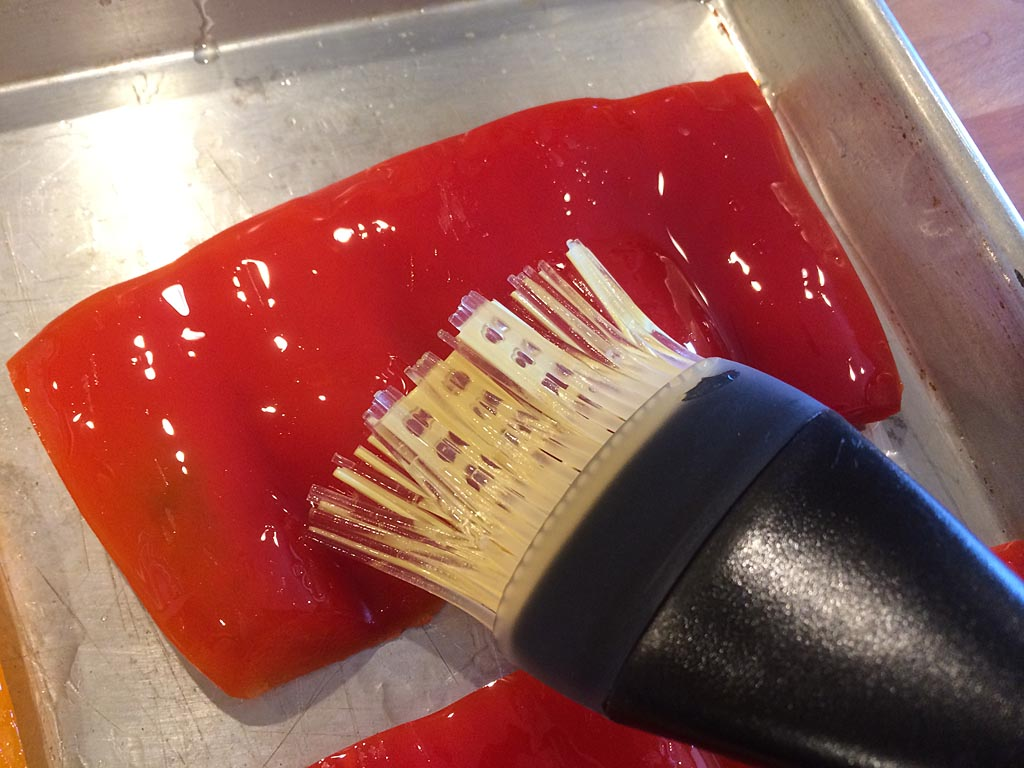 Brush pepper with oil