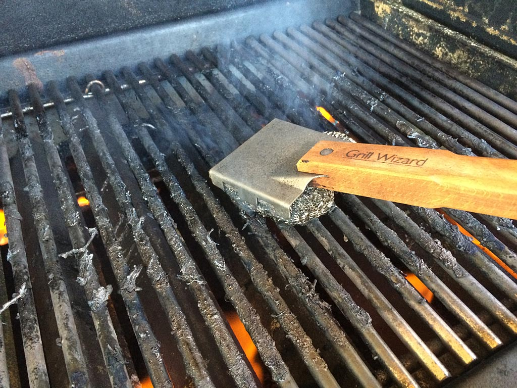 Ripping-hot grill and a good grill brush