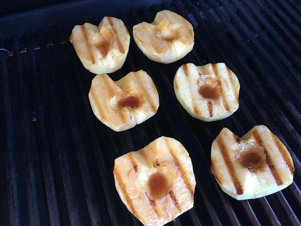Apples with grill marks