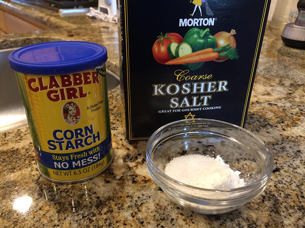 Kosher salt and cornstarch mixture