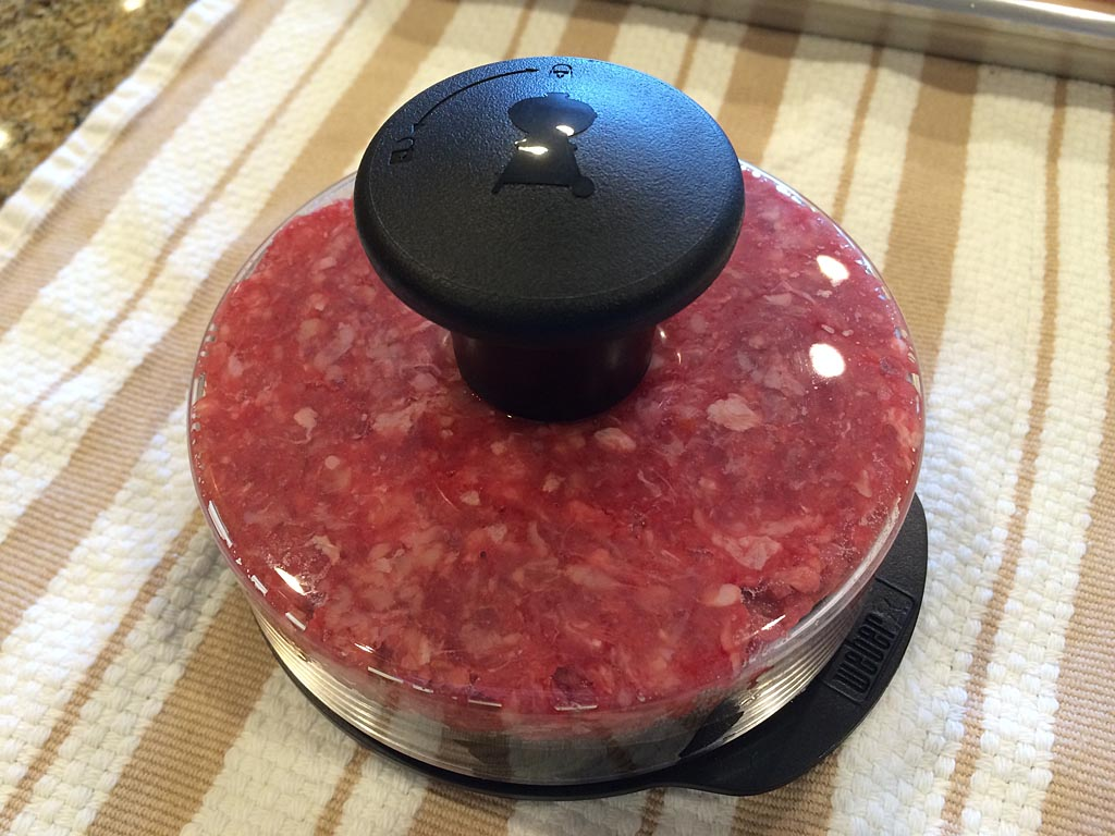 Pressing the burger