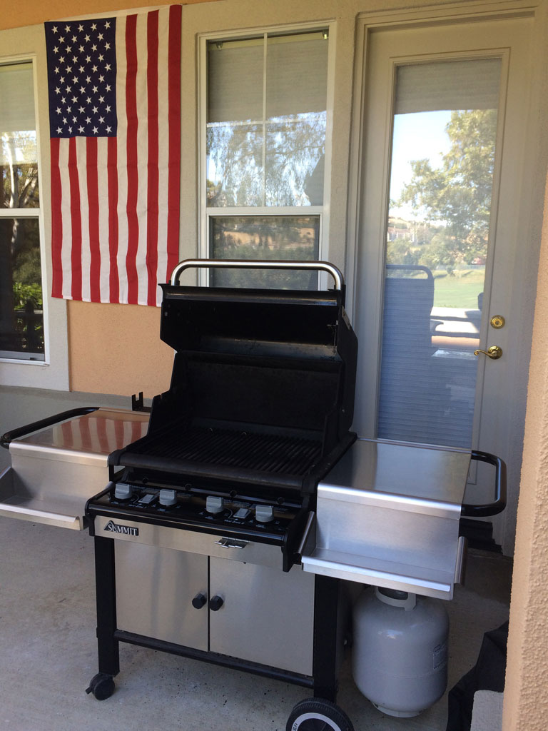 A clean Weber Summit 450 gas grill