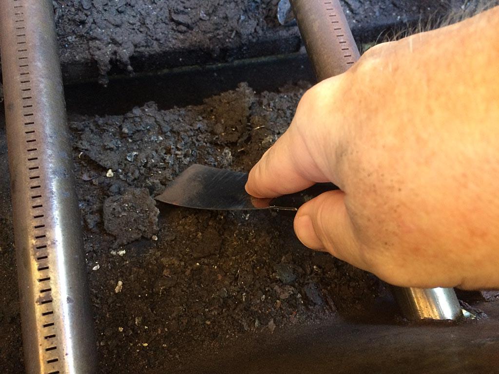 Scraping the lower firebox