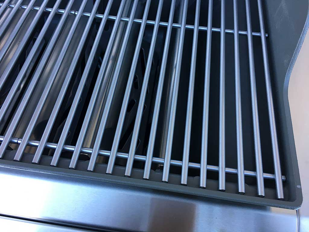 Here are the stainless steel grates I found inside the SE-410 4-burner model, a special model available only at certain dealers like Ace Hardware. I will have to compare these to a 2016 model to see if they are the same as current S/S grates.