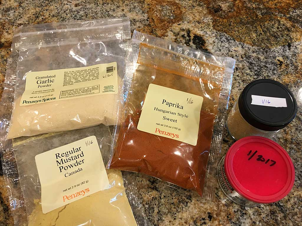 Collection of spices and pantry ingredients