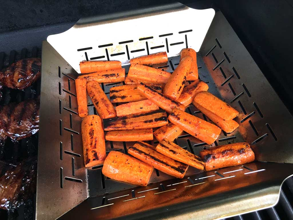 Carrots showing signs of charring