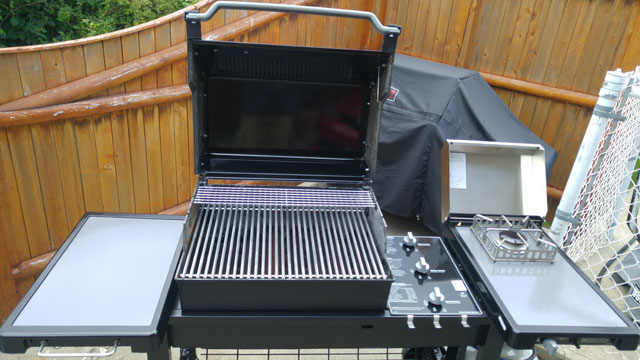 This grill is open and ready for business