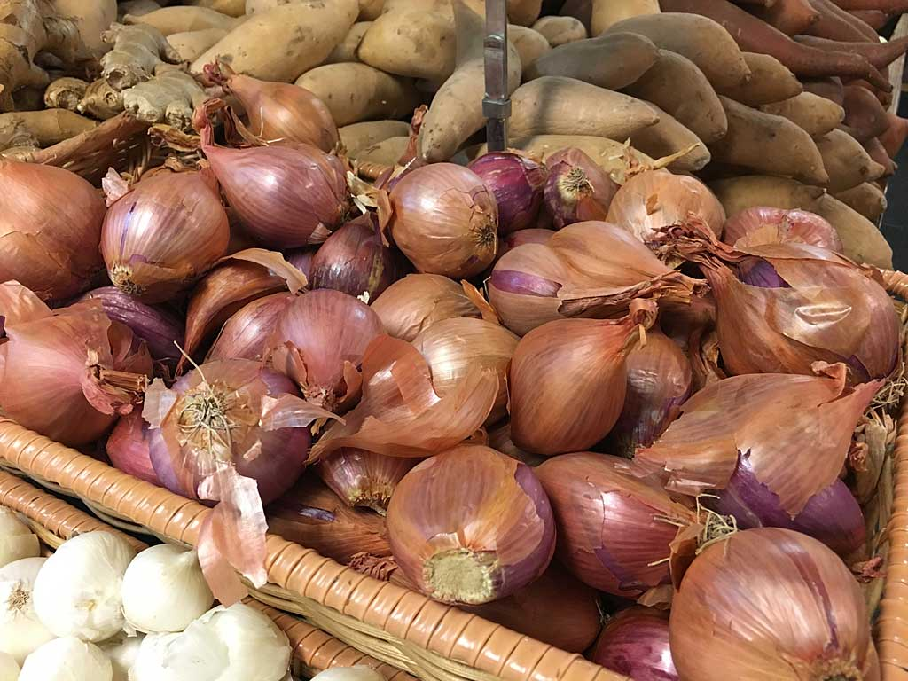Shallots at the supermarket