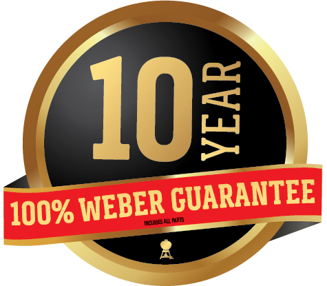100% Weber Guarantee: 10 Years on all parts