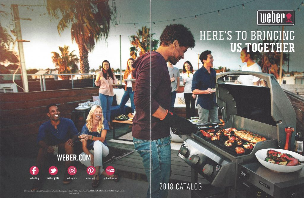 2018 Weber Product Catalog front & back cover
