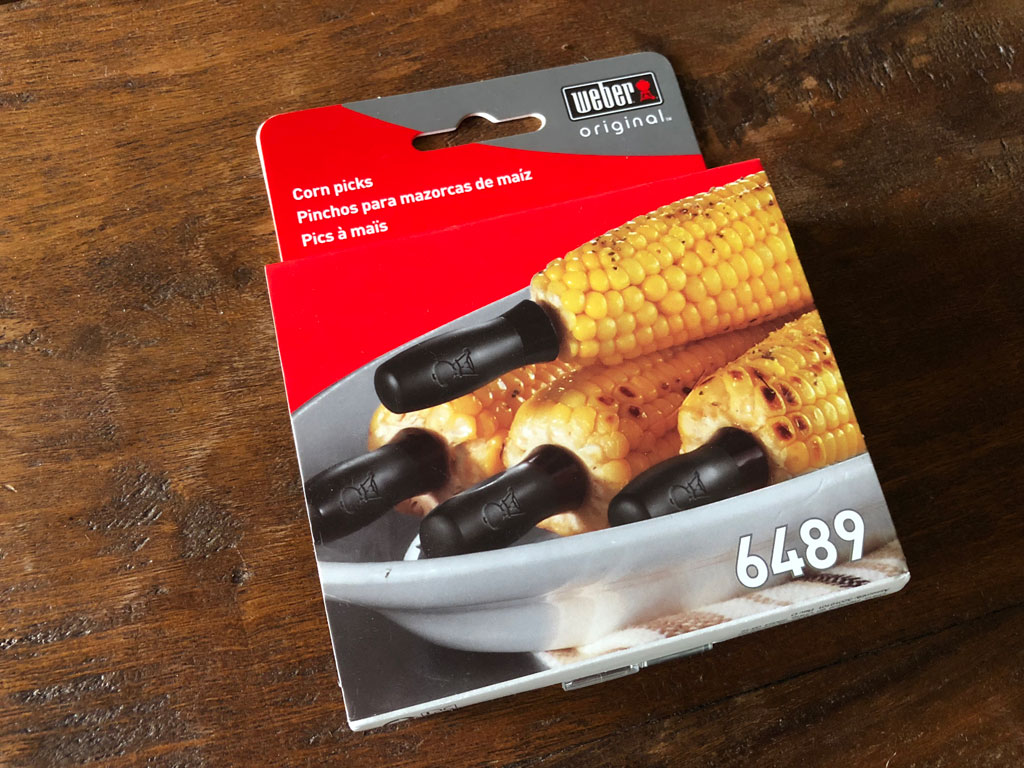 Weber 6489 Corn Picks in packaging
