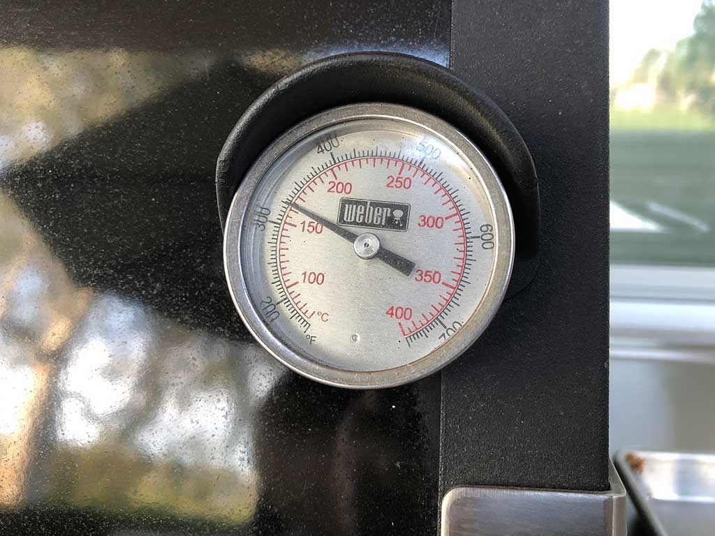 Grill running at about 325F