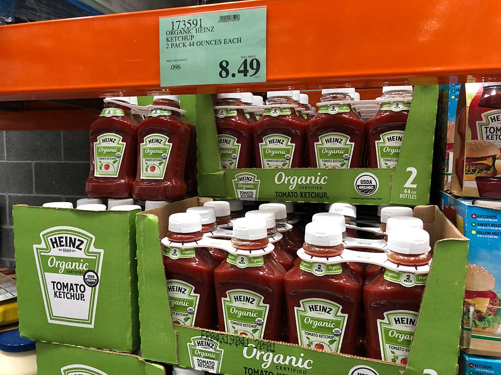 Heinz Organic Tomato Ketchup at Costco