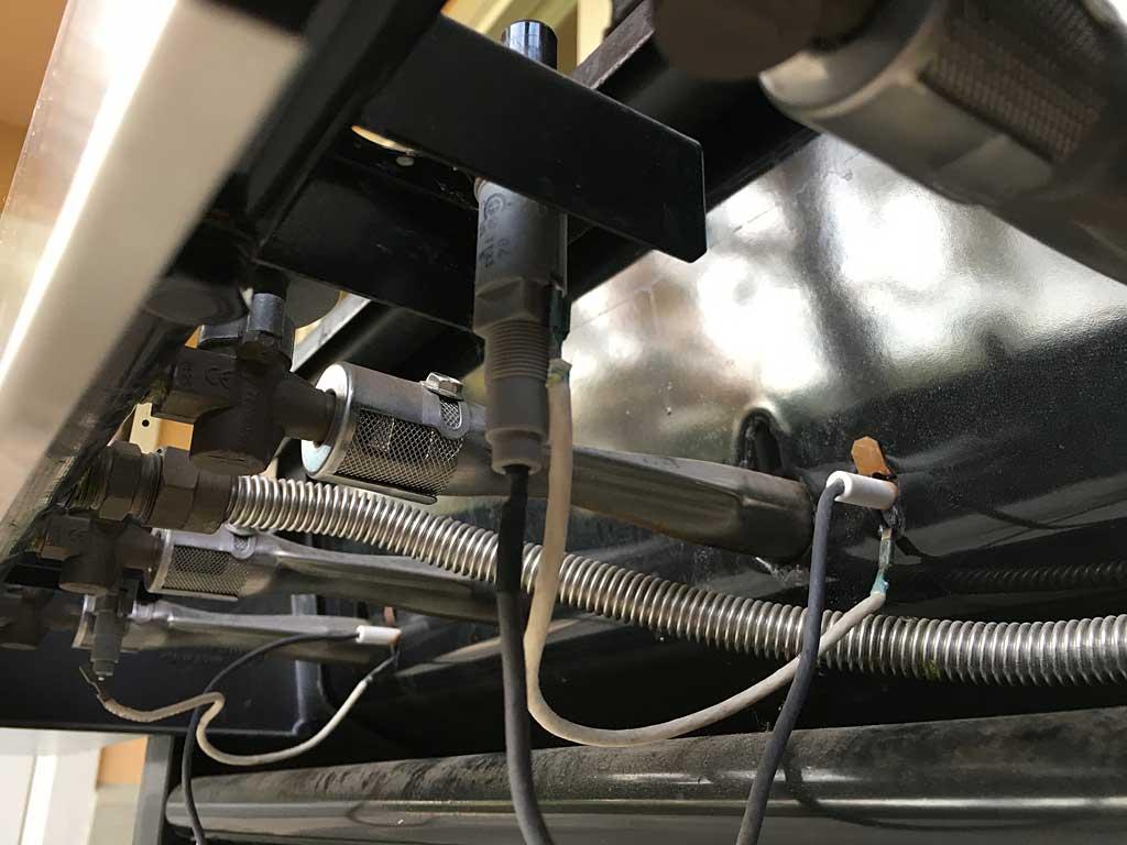 Close-up of igniter wiring