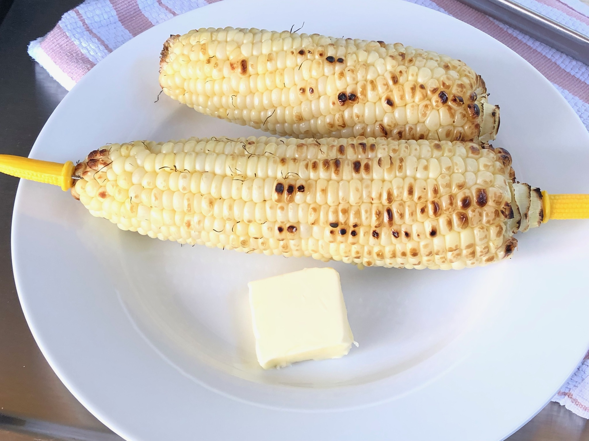 More grilled corn on the cob