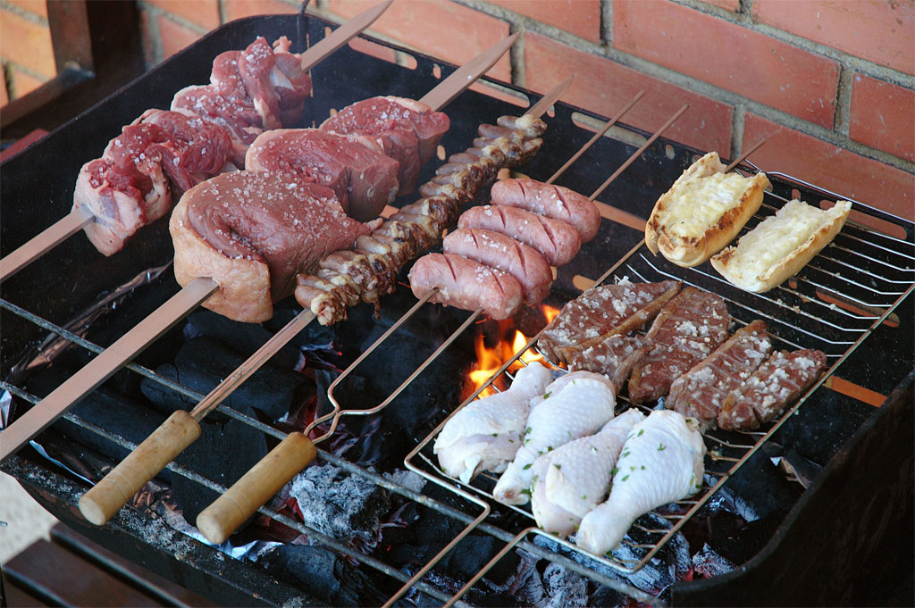 Skewered picanha with other meats