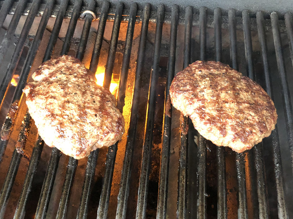 Diamond pattern grill marks