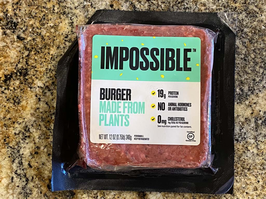Impossible Burger front package label