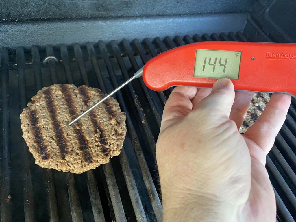 Measuring internal temp of Impossible Burger