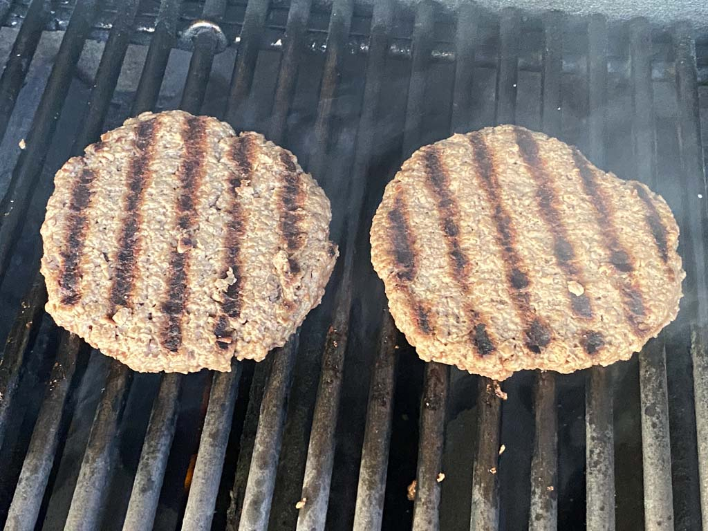 Impossible Burgers on the Weber gas grill